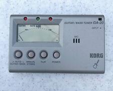 Korg Ga-20 Digital Guitar/Bass Tuner in Excellent Condition,