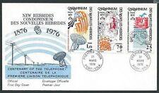 NEW HEBRIDES (French) 1976 Telephone Centenary commem FDC..................41225