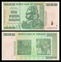 Zimbabwe 1 Billion Dollars 2008 P-83 Banknotes UNC