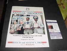 HANK AARON~FRANK ROBINSON~AB CHANDLER signed AUTO 1983 baseball hof book JSA coa