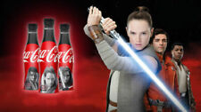 STAR WARS THE LAST JEDI ~ COCA COLA ALUMINIUM BOTTLES x 3 ~ PERFECT CONDITION
