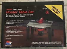 New Sealed Box 1993 Sears Craftsman Router Table Set # 925474