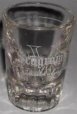 DRINKING GLASS SHOT SEAGRAM'S VO CANADIAN WHISKY SHOOTS