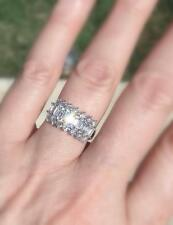 VS1 Diamond Anniversary Ring 2ct Baguette 18k White Band