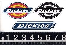 DICKIES WORKWEAR & APPAREL 3 STICKER SET Dickies Skate Laptop 3 Decal Set