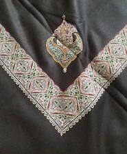 yemeni arabian kashmiri shawl shemagh stole scarf unisex black Sufi pakistani