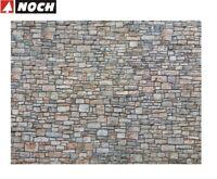 """NOCH H0 56640 3D-Kartonplatte/Mauerplatte """"Bruchsteinmauer"""" (1m² - 57,28€) - NEU"""