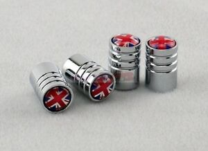 England Britain UK Land Flag Badge Wheel Hub Air Tyre Tire Stem Valve Caps Mini