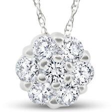1/2ct Pingente De Diamante 10k Ouro Branco