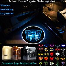 2x 3D Shining Transformers Autobots Wireless Car Door Projector Logo LED Light