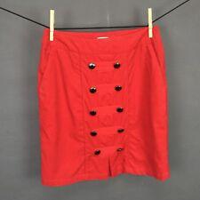 Odille Skirt Size 2 Red Womens Brigadier Corduroy Mini Side Zip Anthropologie