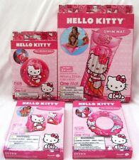 Hello Kitty Beach Ball,Swim Ring,Swim Arm Floats,and Swim Mat/Raft-Brand New!