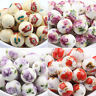 10/20Pcs Round Ceramic Porcelain Loose Charm Spacer Beads Jewelry Craft 12mm