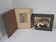VINTAGE CATHOLIC SCHOOL CLASS PHOTO-GRAPH NUN TEACHER & BOY CATECHISM PORTRAIT