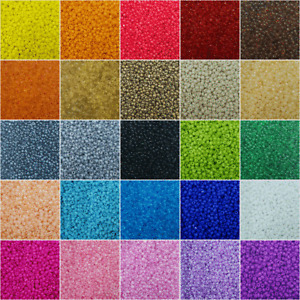 Rocailles Set Farbwahl 2 3 4mm 30 Farben Glas perlen MIX ★ 20 - 100 Gram