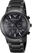 Emporio Armani AR2453 Chronograph Black Ion Plated Stainless Steel 43mm