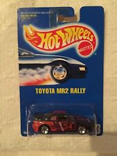HOT WHEELS TOYOTA MR2 RALLY VERY RARE BLUE CARD #233 Rare 5-SPOKE-VARIATION 1991