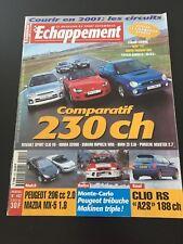 MAGAZINE ECHAPPEMENT N°402 FEV 2001 RALLY RALLYE WRCMONTE CARLO MAKINEN BURNS