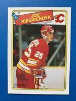 Joe Nieuwendyk Rookie 1988-89 #16 O-Pee-Chee Hockey Card Calgary Flames OPC