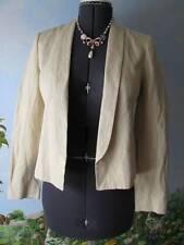Vince Blazer Rustic Linen Women Beige Blazer Suit Jacket Size 6 New $385