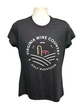 2018 Virginia Wine Country Half Marathon Womens Medium Black TShirt