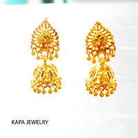 Earrings Gold Plated Earring Traditional Indian Kapa Jewelry Ethnic Traditional