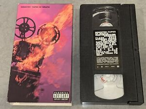 """MINISTRY """"Tapes Of Wrath"""" Music VHS Video Revolting Cocks Jesus Built My Hot Rod"""