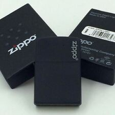 New Zippo Logo Black Matte Classic Windproof Lighter 218ZL