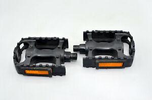 "BMX MTB Road Resin Composite Pedals 9/16"" NW-99B Black Bicycle Bike Platform"