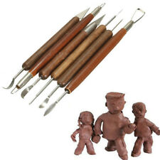 6pcs Clay Sculpting Wax Carving Pottery DIY Tools Shapers Polymer Modeling LJ