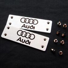 2Pcs Aluminum Car Floor Mat Carpet Logo Badge Emblem Fit for Audi A3 A4 A6 Q3 Q5