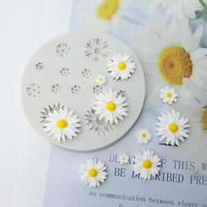 Daisy Flower Silicone Mould Chocolate Fondant Cake Topper Baking Mold Decor UK