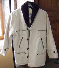Manteau beige col marron Pimkie Femme coton taille T2