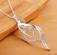 "Women Fashion Jewelry 925 Silver Plated 18"" Chain Pendant Necklace 15-1"