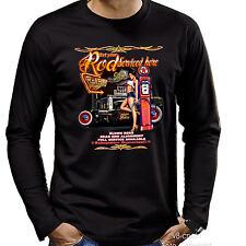 HotRod Garage PinUp Kustom 50s Rockabilly Auto Longsleeve T-Shirt *1276 LS bl