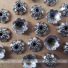 P032 20pcs Tibetan Silver Charm Lotus Flower Bead Caps Accessories  Wholesale