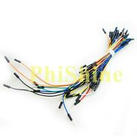 65pcs Male to Male Flexible Solderless Breadboard Jumper Wire Connect Cable Ardu