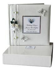 Personalised Traditional interleaved White Wedding Album  Presentation box #8