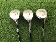 NICE Taylormade Golf PITTSBURGH PERSIMMON 3 5 7 WOOD SET Right Steel LADIES Used