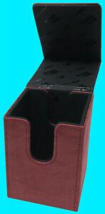 ULTRA PRO PREMIUM SUEDE ALCOVE FLIP RUBY DECK BOX Card Storage Case mtg ccg red