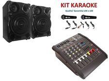 IMPIANTO AUDIO KARAOKE USB MP3 DJ SET CASSE + MIXER AMPLIFICATORE + MICROFONI