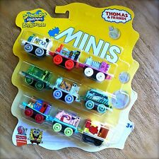 Thomas & Friends MINIS SpongeBob SquarePants Trains 9PK Gary Sandy Mr. Krabs