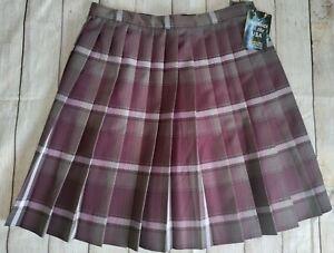 Dennis Juniors J9 James Plaid Knife Pleated Skirt, School Uniform