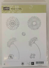 Stampin' Up! REASON TO SMILE Set of 7 Clear Mount Rubber Stamps BRAND NEW