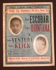 Early Boxing Poster New York 1936 Sixto Escobar Frankie Kick Box Sports Original