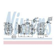 Fits Skoda Rapid Spaceback NH3 1.6 Genuine Nissens A/C Air Con Compressor