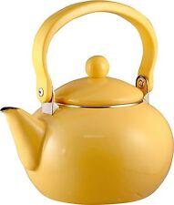 Lemon Reston Lloyd 2 quart Harvest Tea Kettle Enamel on Steel 30201 Yellow New