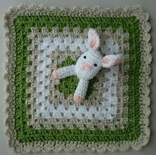 HANDMADE crochet bebé Manta De Conejo Consolador