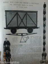 Use of Bicycle Frame Building Cycling Bike Rare Old Victorian Photo Article 1899