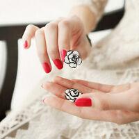 1 Paar süsse Ohrstecker groß Ohrringe Damen Girls-Rose-Blumen-Bolzen-Ohrr-CC33